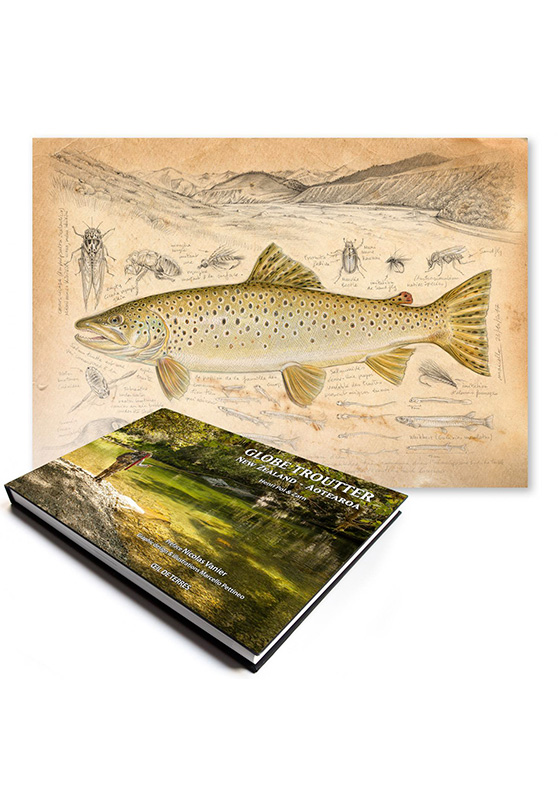 Marcello-art: Books Globe Troutter New Zealand - Aotearoa + New Zealand Trout Fario