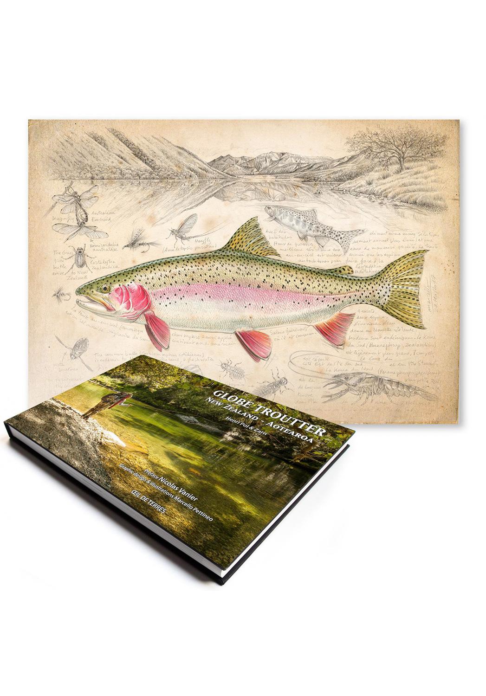 Marcello-art: Books Globe Troutter New Zealand – Aotearoa + New Zealand rainbow trout