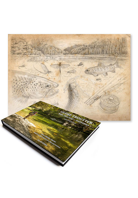 Marcello-art : Livres Globe Troutter New Zealand - Aotearoa + Pêche à la mouche Nouvelle-Zélande
