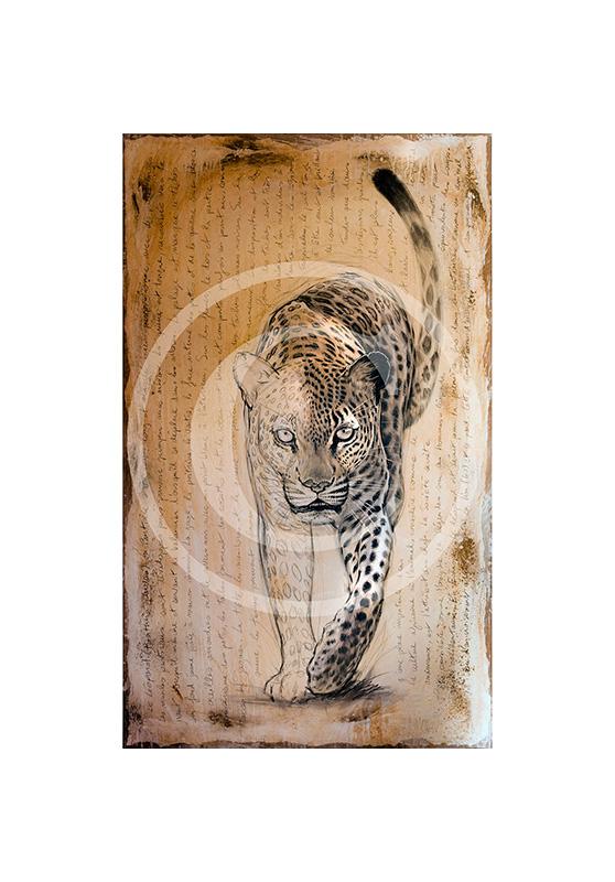 Marcello-art: Originals on canvas 119 - Leopard 07