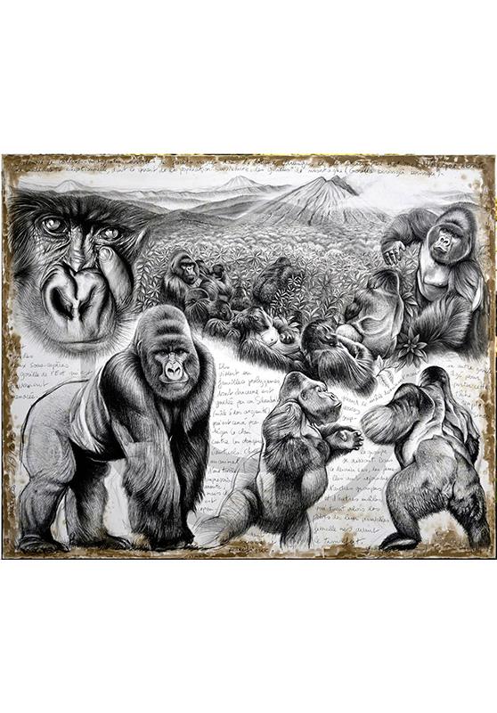 Marcello-art : Originaux sur toile 301 - Virunga Gorille de montagne