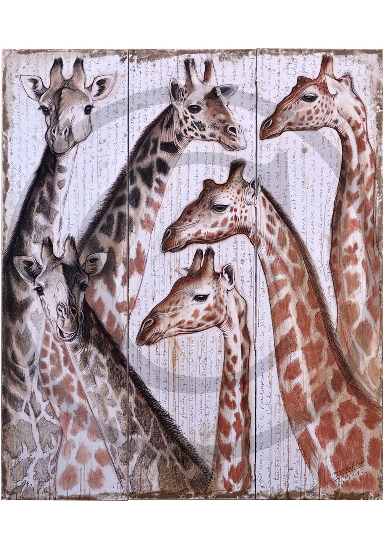 Marcello-art: Originals on canvas 300 - Giraffe