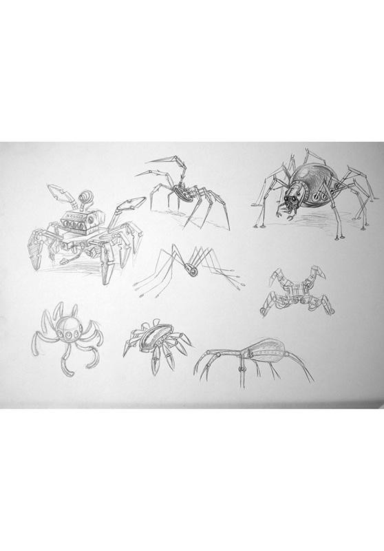 Marcello-art: Entomology 153 - Arachna board 23