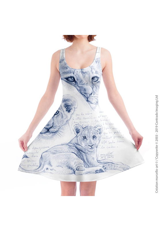 Marcello-art: Dresses Skater dress 330 Cubs - mother of pearl