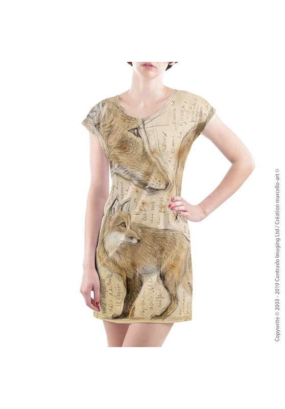 Marcello-art: Dresses T-shirt dress 336 Red fox
