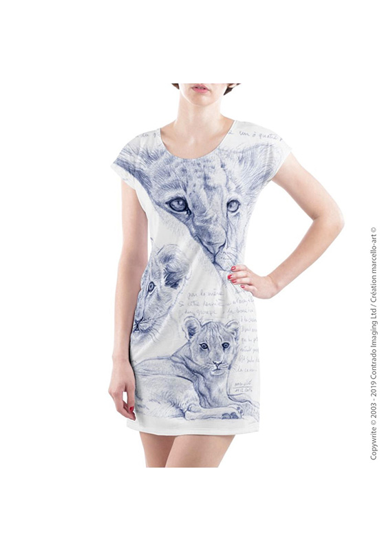 Marcello-art: Dresses T-shirt dress 330 Cubs - mother of pearl