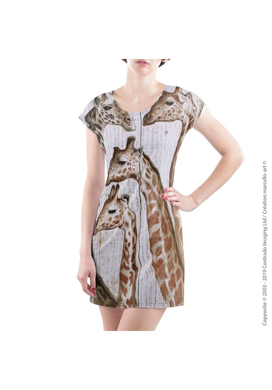 Marcello-art: Dresses T-shirt dress 300 Giraffes