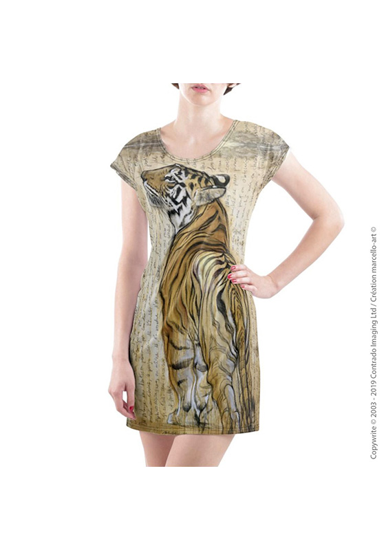 Marcello-art: Dresses T-shirt dress 298 Bengal tiger