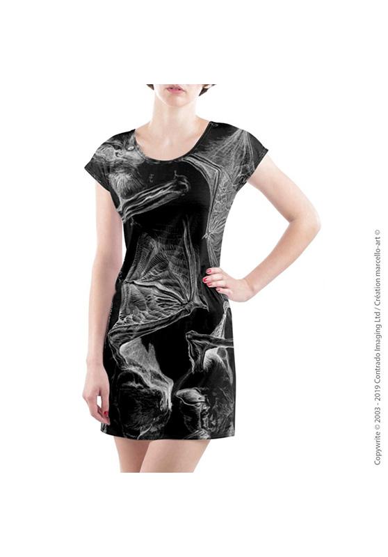 Marcello-art : Robes Robe T-shirt 31 Pipistrelle - noir