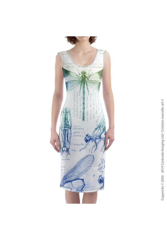Marcello-art: Dresses Mid-length dress 255 Calopteryx slendens