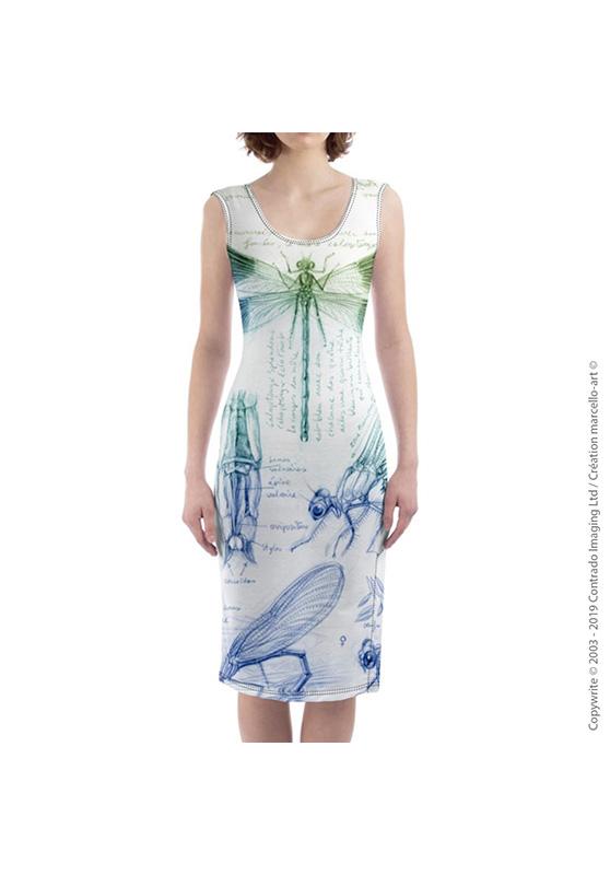 Marcello-art : Robes Robe mi-longue 255 Caloptéryx éclatant