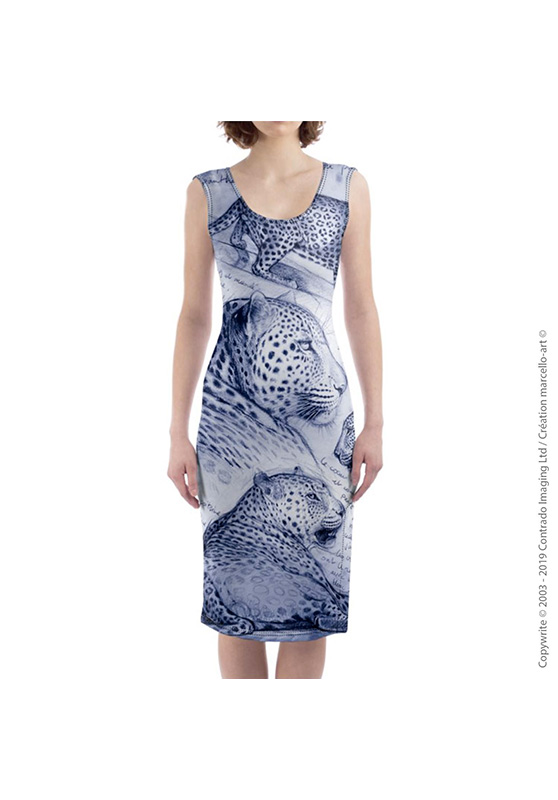 Marcello-art: Dresses Mid-length dress 252 Twilight leopard