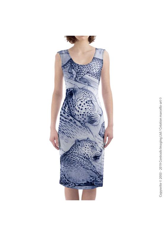 Marcello-art : Robes Robe mi-longue 252 Léopard crépuscule