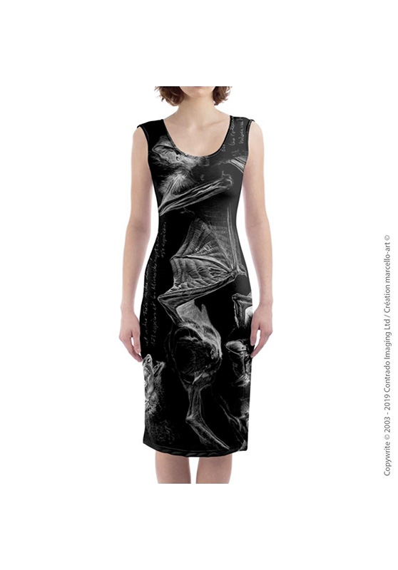 Marcello-art: Dresses Mid-length dress 31 Pipistrelle - black