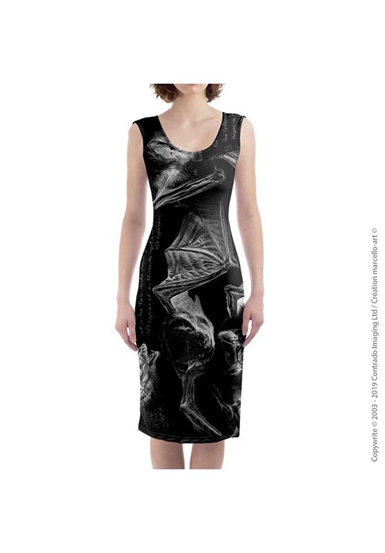 Marcello-art: Dresses Mid-length dress 31 Pipistrelle - black