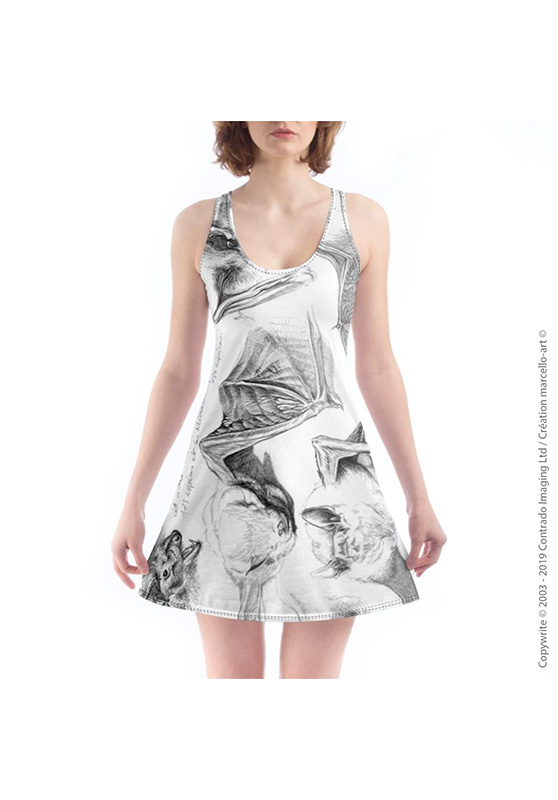 Marcello-art: Nightie Nightie 31 Pipistrelle - white