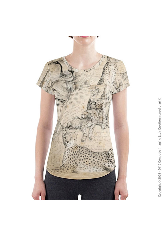 Marcello-art: Short sleeved T-shirt Slim fit T-Shirt 338 Malaika