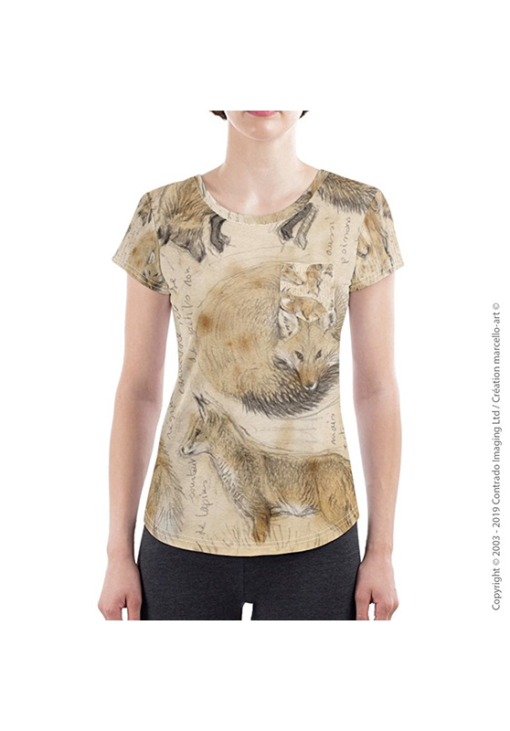 Marcello-art: Short sleeved T-shirt Slim fit T-Shirt 336 Red fox
