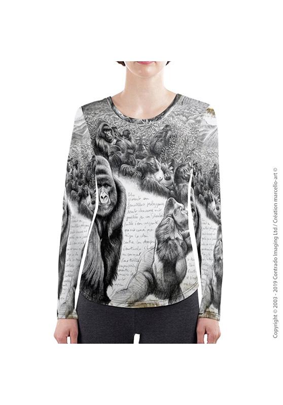 Marcello-art : T-shirt manches longues T-Shirt manches longues 301 Gorille Virunga