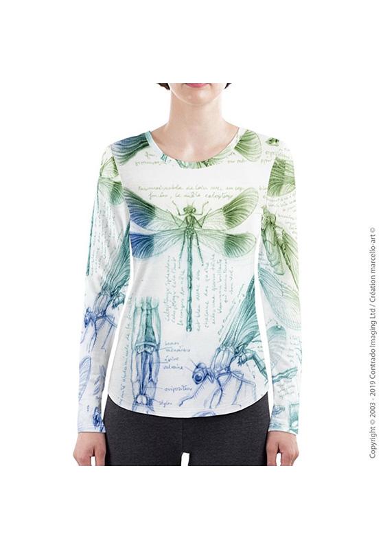 Marcello-art: Long sleeved T-shirt Long Sleeve T-Shirt 255 Caloptéryx