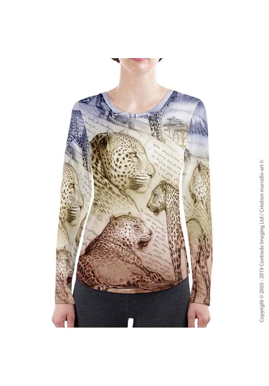 Marcello-art: Long sleeved T-shirt Long Sleeve T-Shirt 252 Leopard sunset