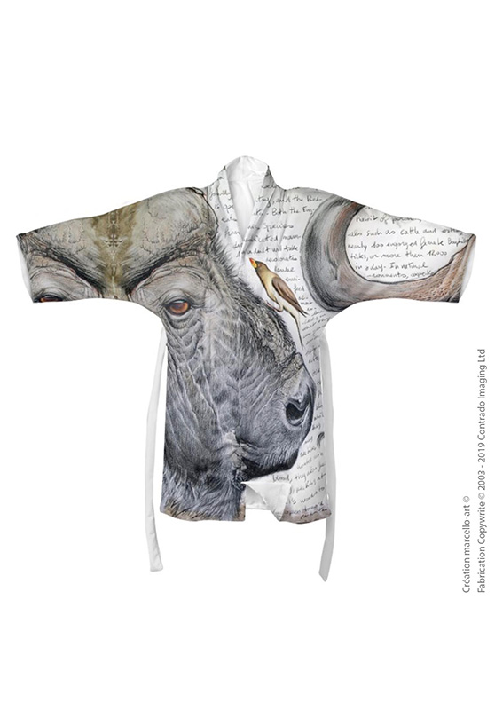 Marcello-art: Kimono Kimono 227 Red-billed Oxpecker