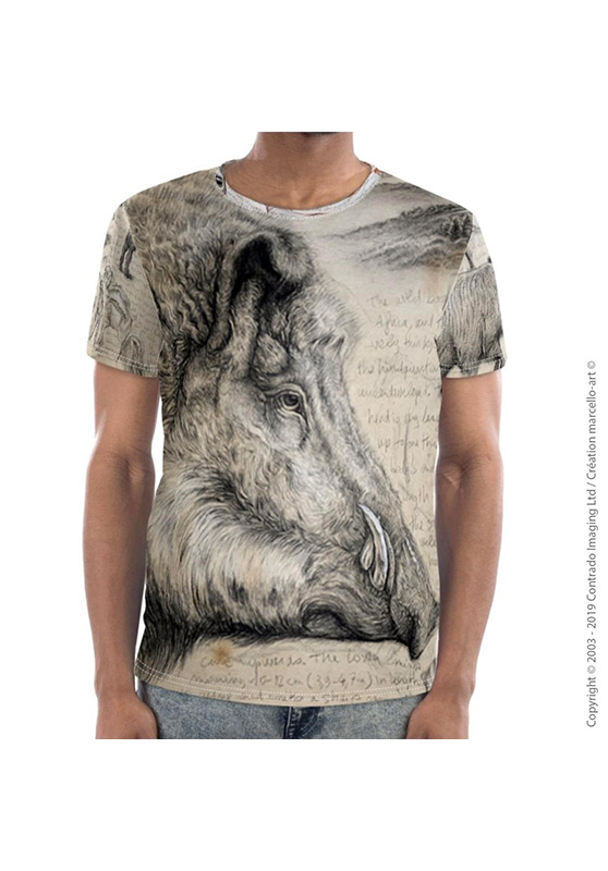 Marcello-art: Short sleeved T-shirt Short Sleeve T-Shirt 347 Sus scrofa