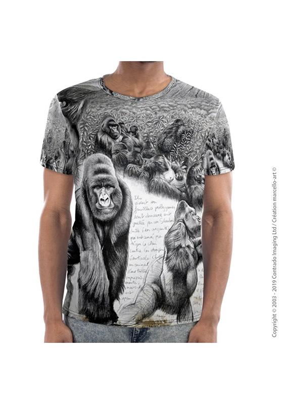 Marcello-art: Short sleeved T-shirt Short Sleeve T-Shirt 301 Virunga gorilla