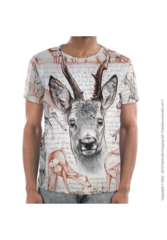 Marcello-art : T-shirt manches courtes T-Shirt manches courtes 280 Chevreuil