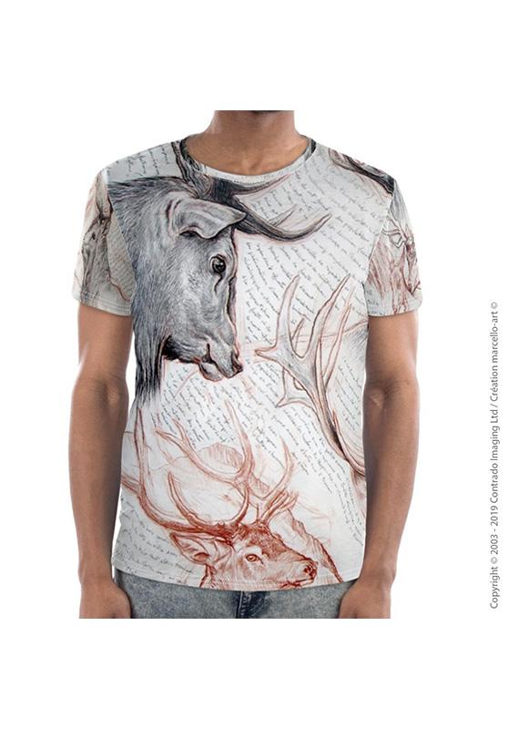 Marcello-art : T-shirt manches courtes T-Shirt manches courtes 278 Cerf Elaphe