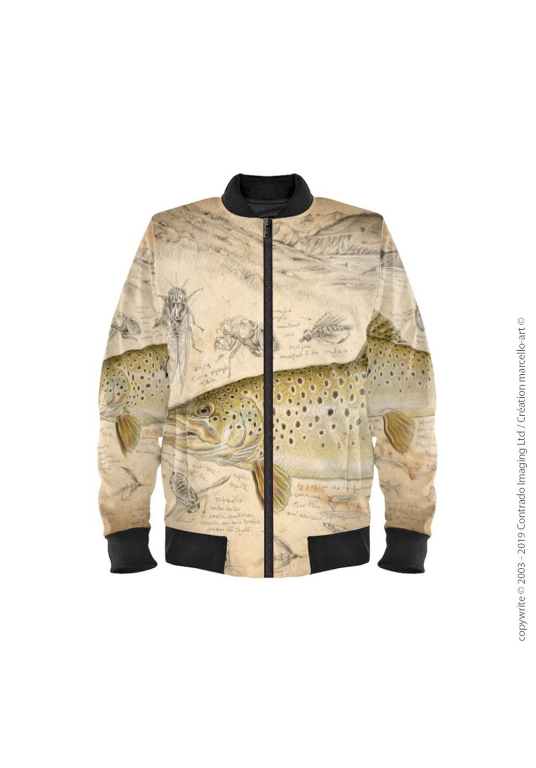 Marcello-art: Bombers Bomber 372 Brown trout