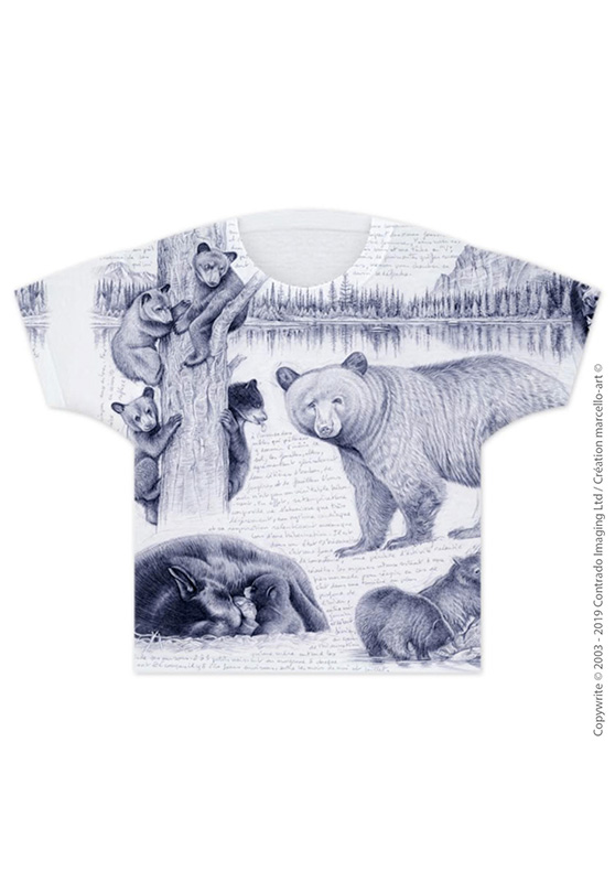 Marcello-art : T-shirt T-shirt 382 Ours noir