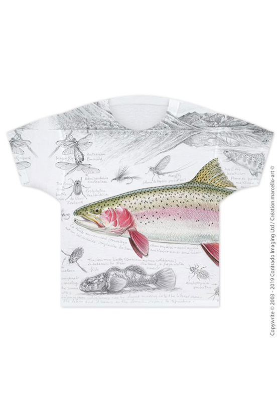 Marcello-art: T-shirt T-shirt 373 Rainbow trout
