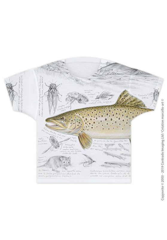 Marcello-art: T-shirt T-shirt 372 Brown trout
