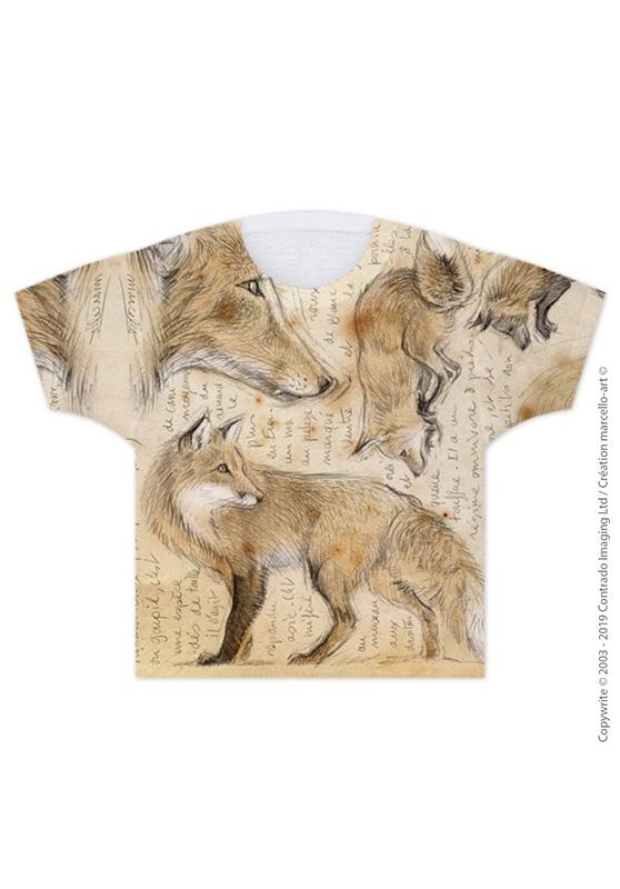 Marcello-art : T-shirt T-shirt 336 Renard roux