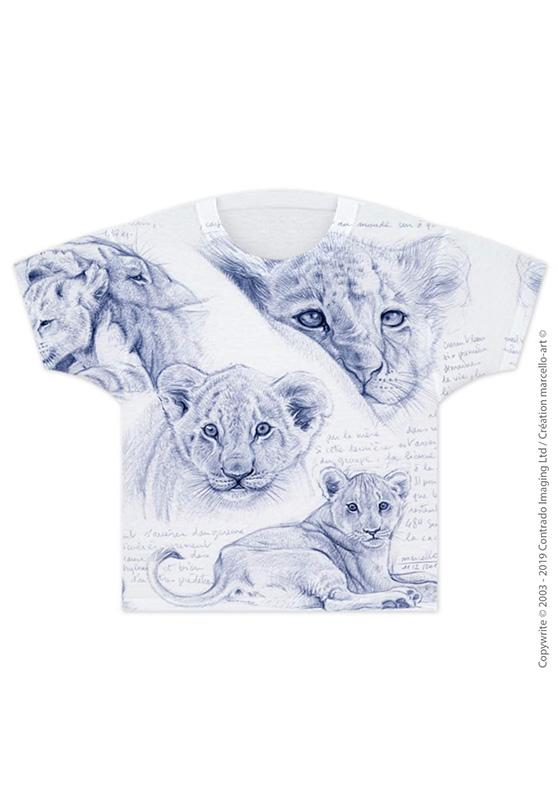 Marcello-art : T-shirt T-shirt 330 Lionceaux - nacre