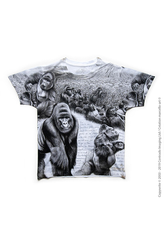 Marcello-art : T-shirt T-shirt 301 Gorille Virunga