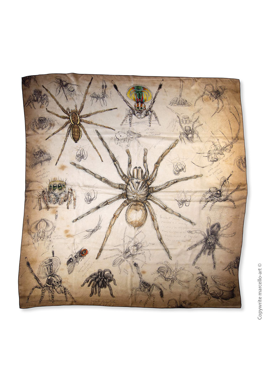 Marcello-art : Carrés Foulard carré 82 Arachna
