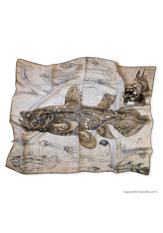 Marcello-art: Rectangular Rectangular scarve 346 Latimeria chalumnae
