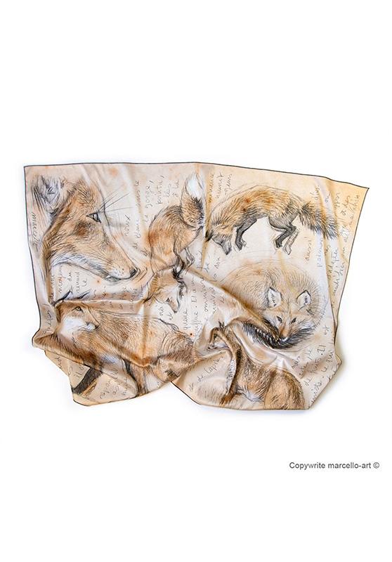 Marcello-art : Rectangulaires Foulard 336 Red fox
