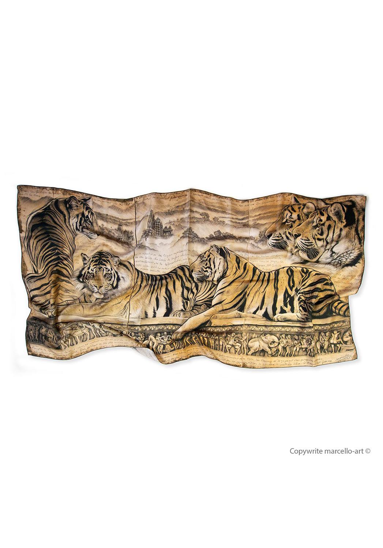 Marcello-art : Rectangulaires Foulard 304 Kamasutra