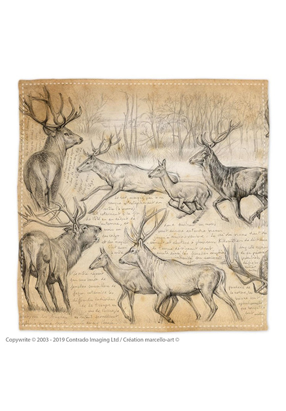 Marcello-art: Bandana Bandana 271 Red deer