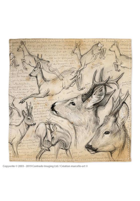 Marcello-art: Bandana Bandana 110 Roe deer