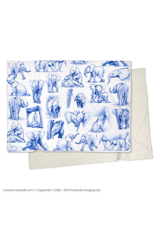 Marcello-art : Plaid Plaid 392 Patchwork éléphanteaux bic