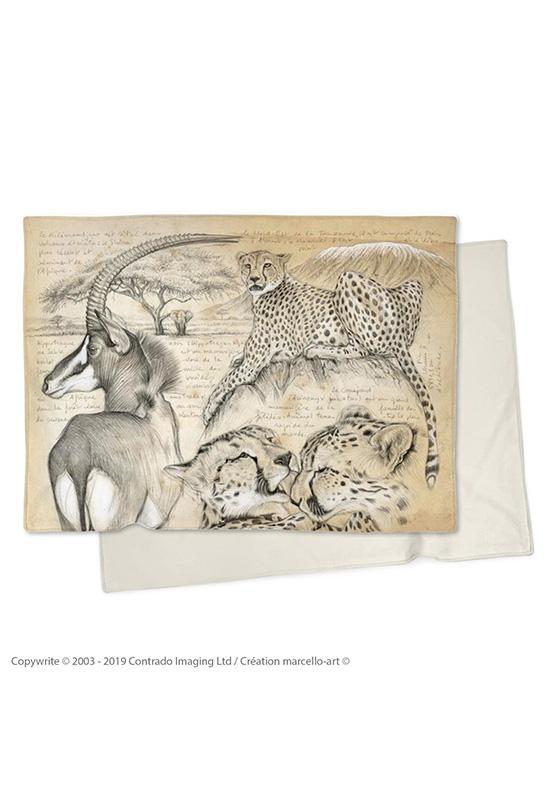 Marcello-art : Plaid Plaid 363 Guépards et antilope sable