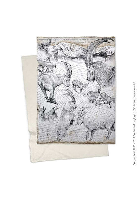 Marcello-art : Plaid Plaid 348 Bouquetin des Alpes