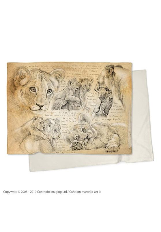 Marcello-art : Plaid Plaid 331 Lionceaux