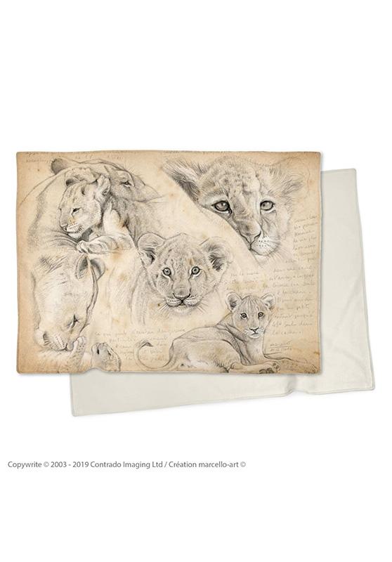 Marcello-art : Plaid Plaid 330 Lionceaux