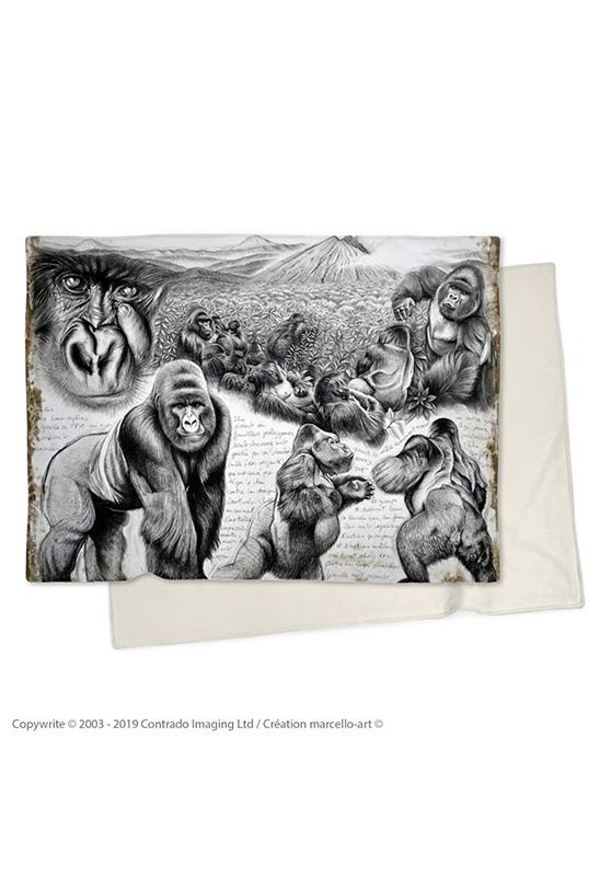 Marcello-art : Plaid Plaid 301 Gorilles Virunga