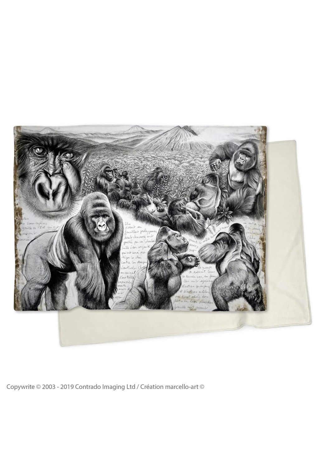 Marcello-art: Plaid Plaid 301 Virunga gorilla